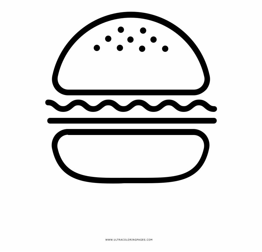 Burger Coloring Page Desenhos De Hamburguer Png Transparent