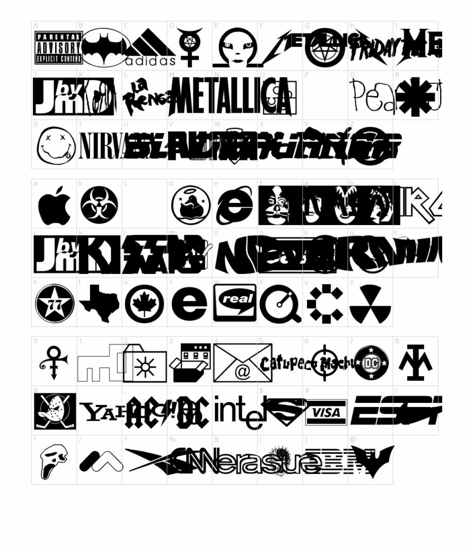 Famous Logos Font Download Transparent Png Download