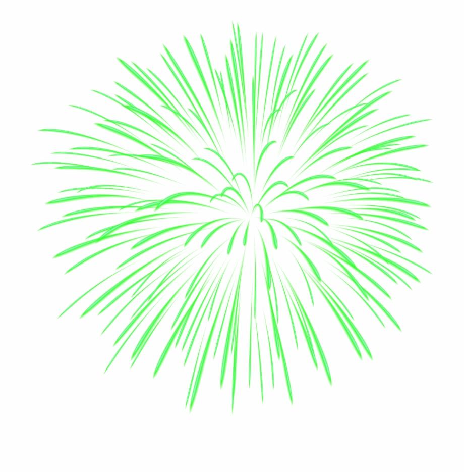 Fireworks Clipart Green Firework - Green Fireworks ...