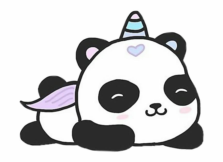 Panda Cartoon Png Cute Cartoon Unicorn Panda Png Download Cute Baby Panda Drawing 1693984 Vippng