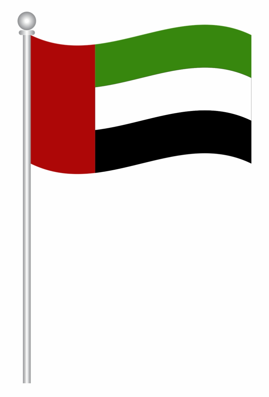 Flag Of Uae Flag Uae World Flags Png Image Transparent Dubai