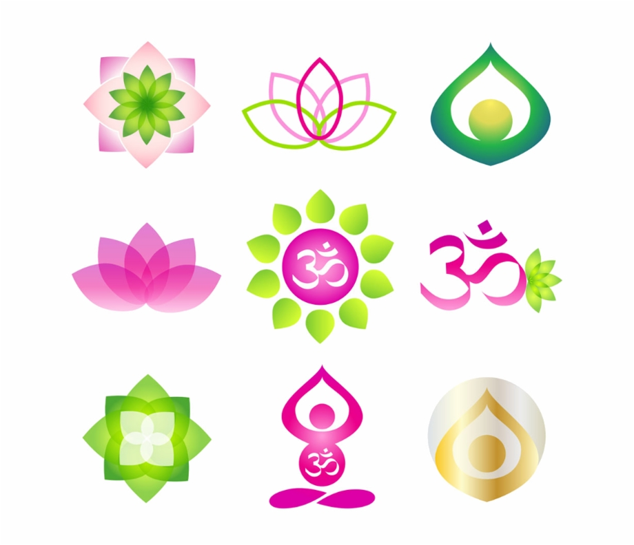 Different Colorful Lotus Yoga Logo Design Png Image Logo Vector Om Transparent Png Download 1709482 Vippng