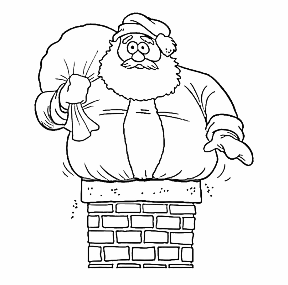 Funny Santa Coloring Pages