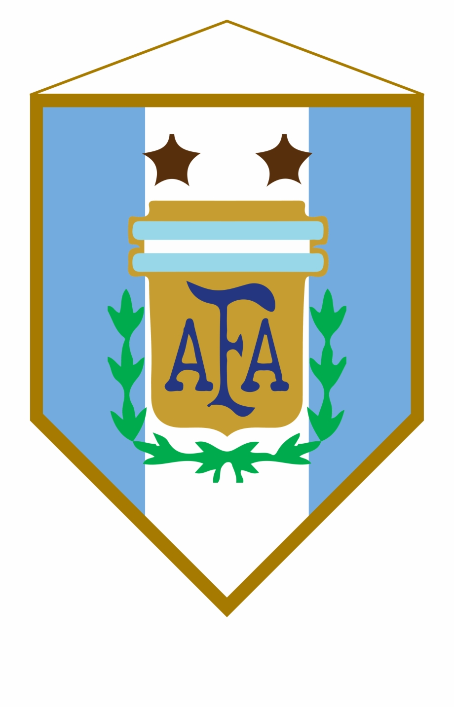 Logo Banderin Argentina Argentina National Football Team