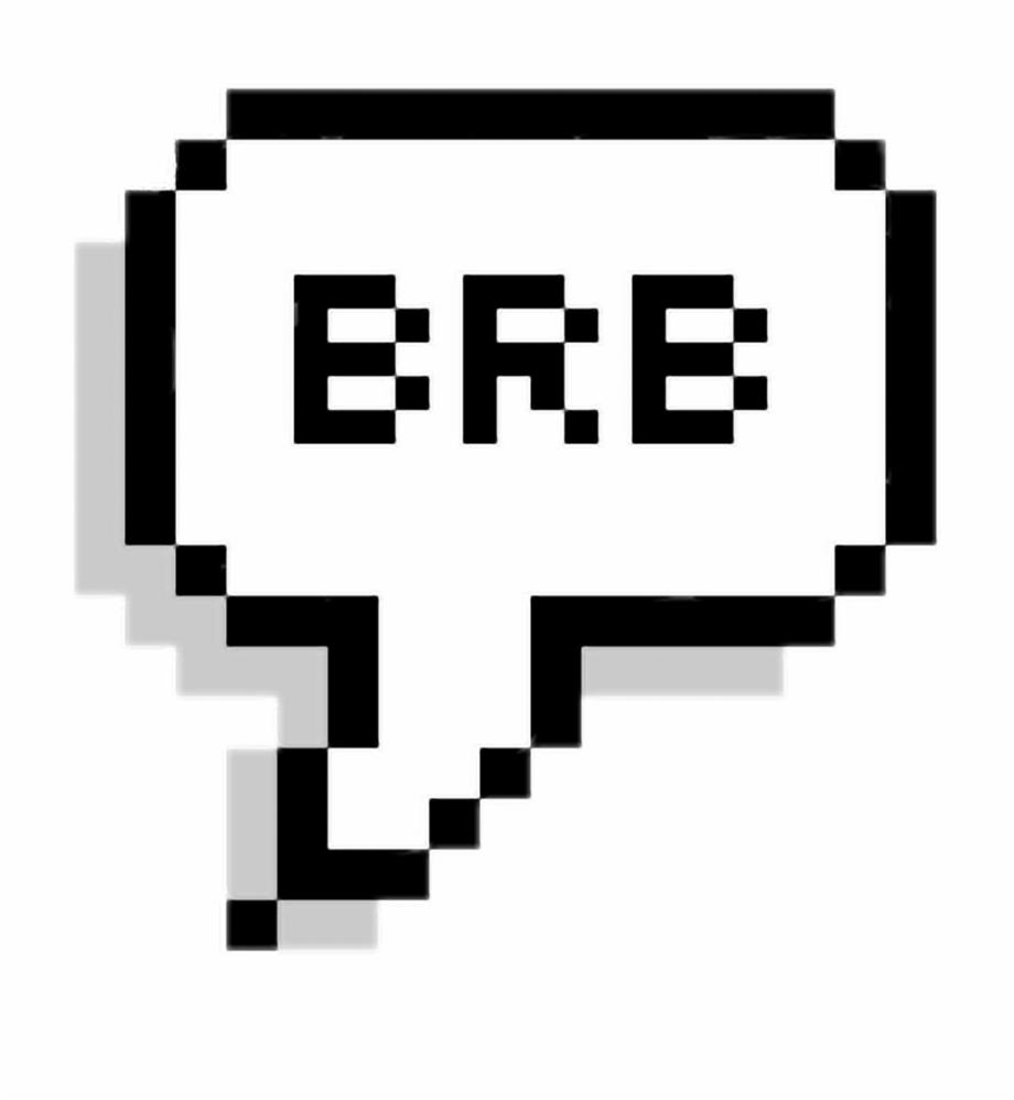 Speachbubble Pixel Pixelspeechbubbles Brb Freetoedit Cute Pixel Speech Bubble Transparent Png Download 1734541 Vippng