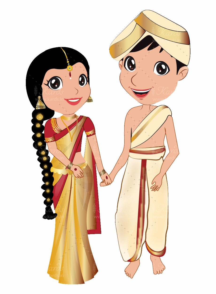 Groom Clipart Bengali Wedding Card Kannada Bride And Groom