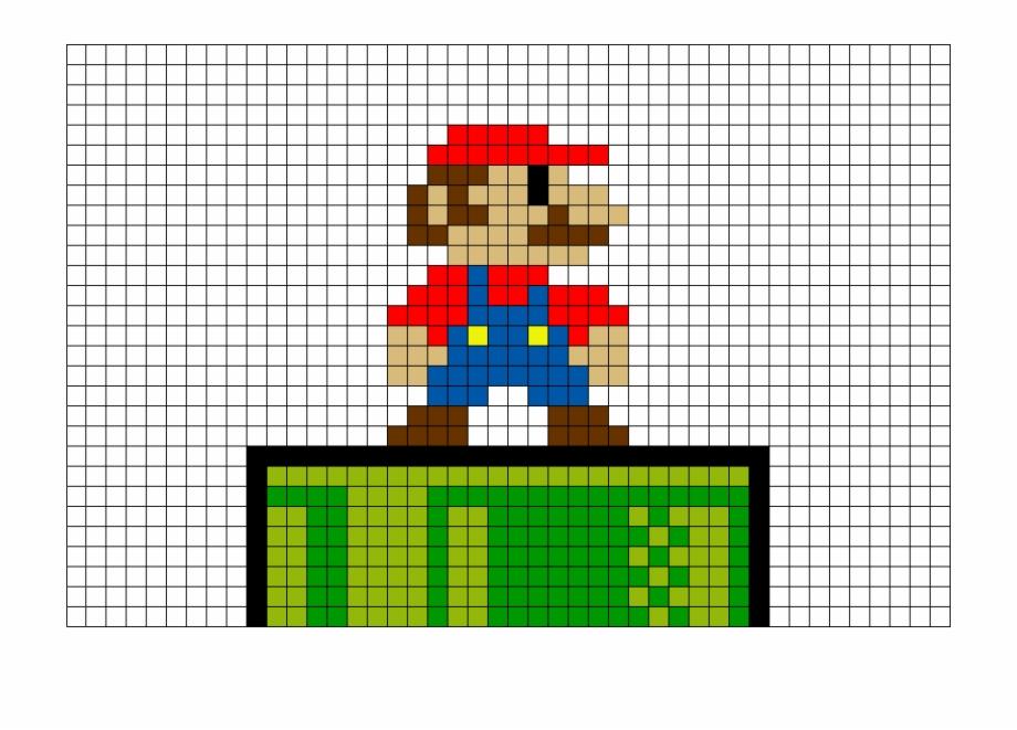 Mario Nes Pixel Art Transparent Png Download 1757036 Vippng