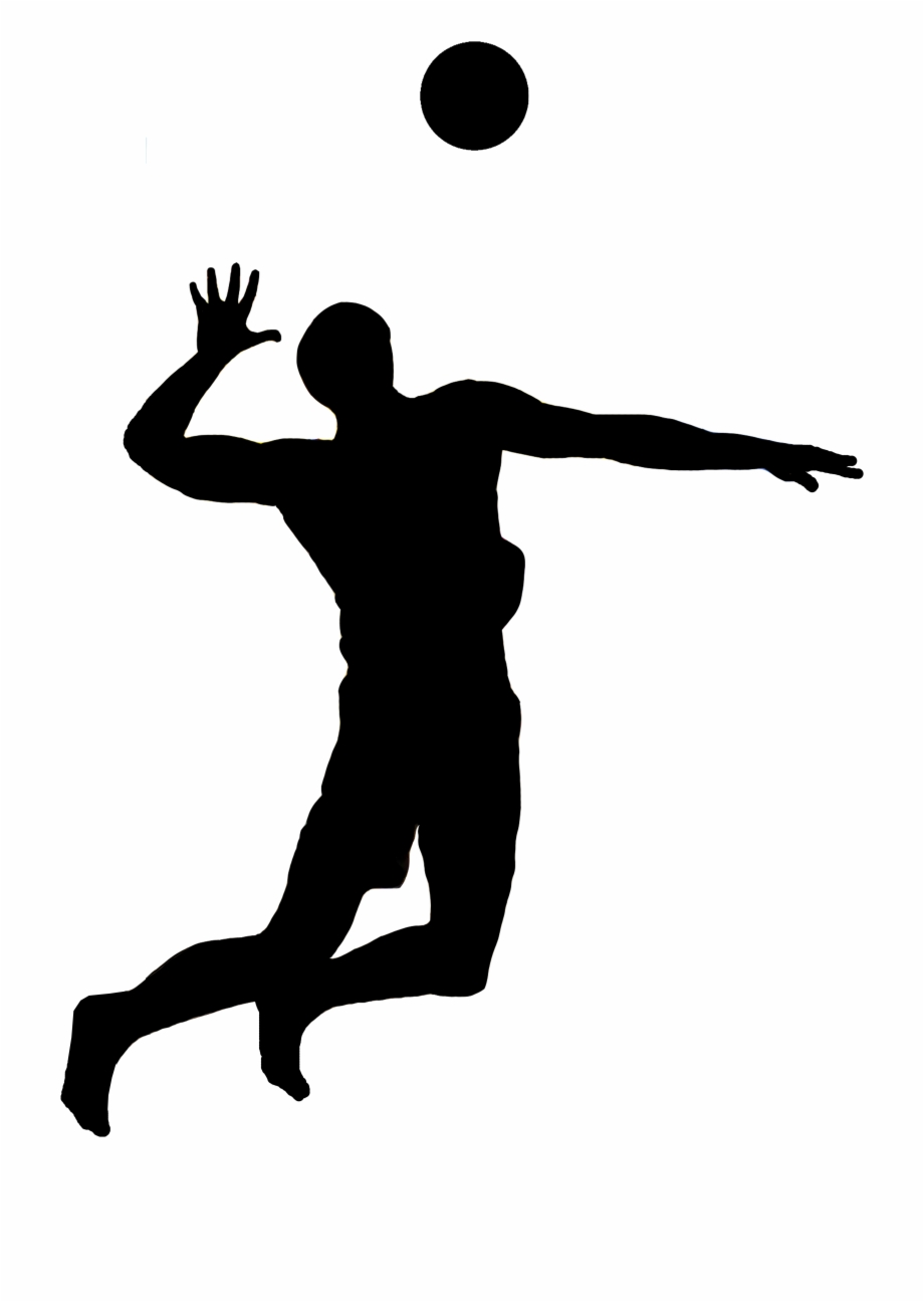 Volleyball Silhouette Png Volleyball Player Spike Silhouette Transparent Png Download 1778296 Vippng