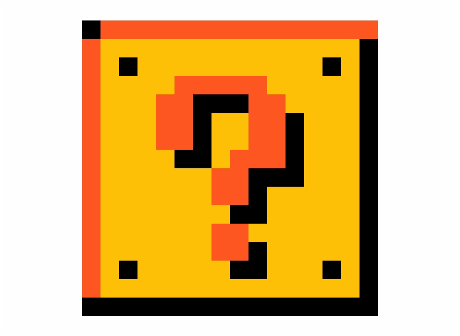 Pixel Mario Question Mark Block Super Mario Bros Question