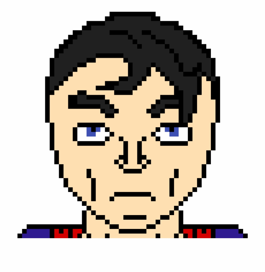 Superman Happy Face Pixel Art Transparent Png Download