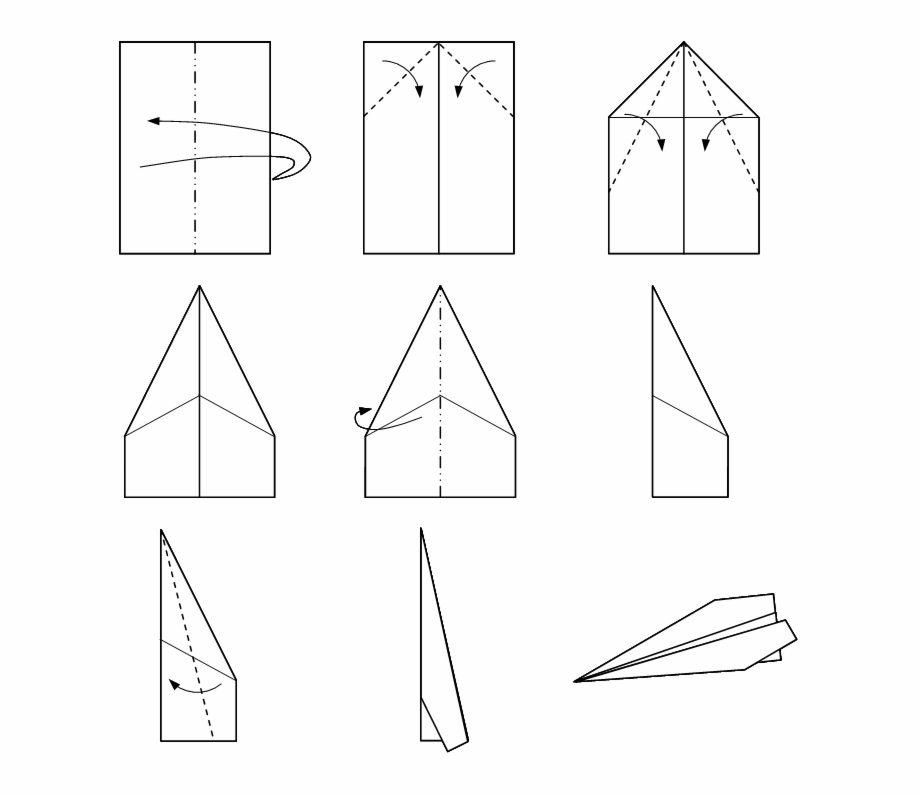Make A Paper Airplane Transparent Png Download 183313 Vippng
