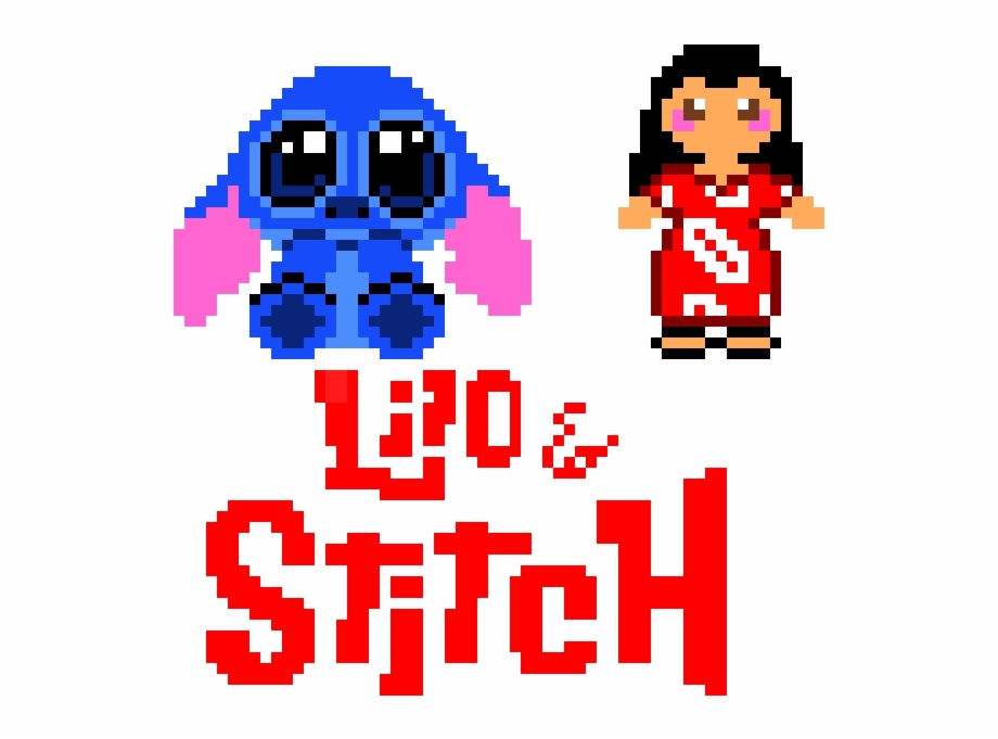 Lilo Stitch Lilo And Stitch Pixel Art Transparent Png
