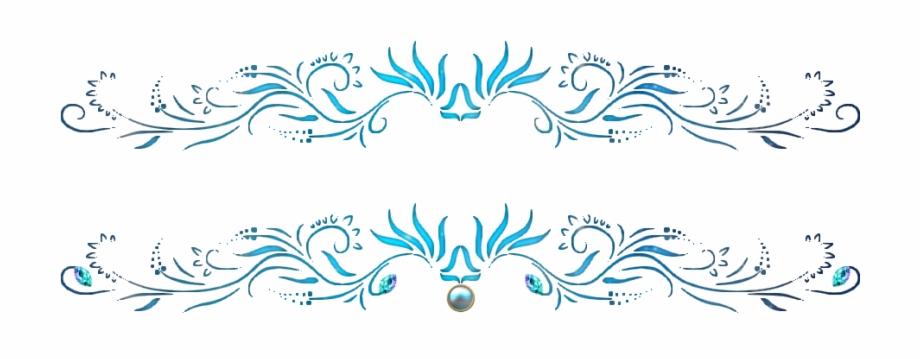 Arabesque Bleu Png Bordure De Page Arabesque Transparent