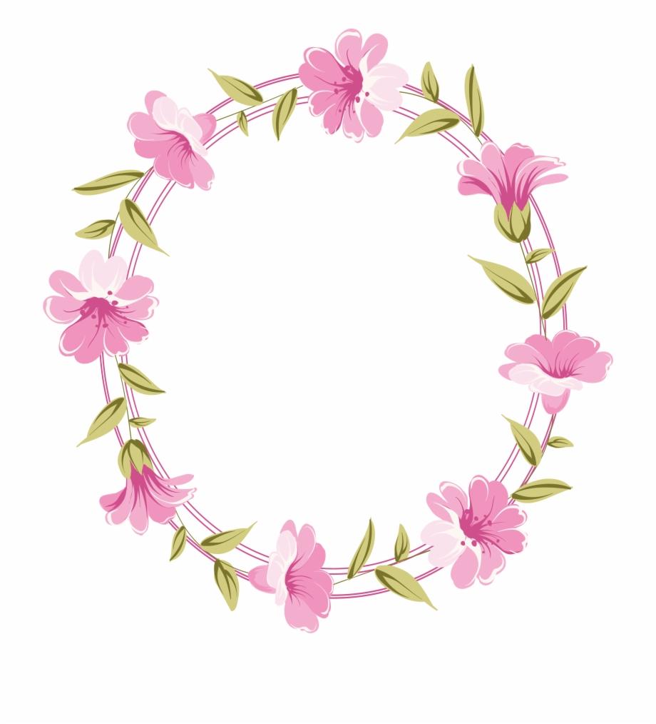Com Floral Frame Bautismo Sud Etiquetas Redondas