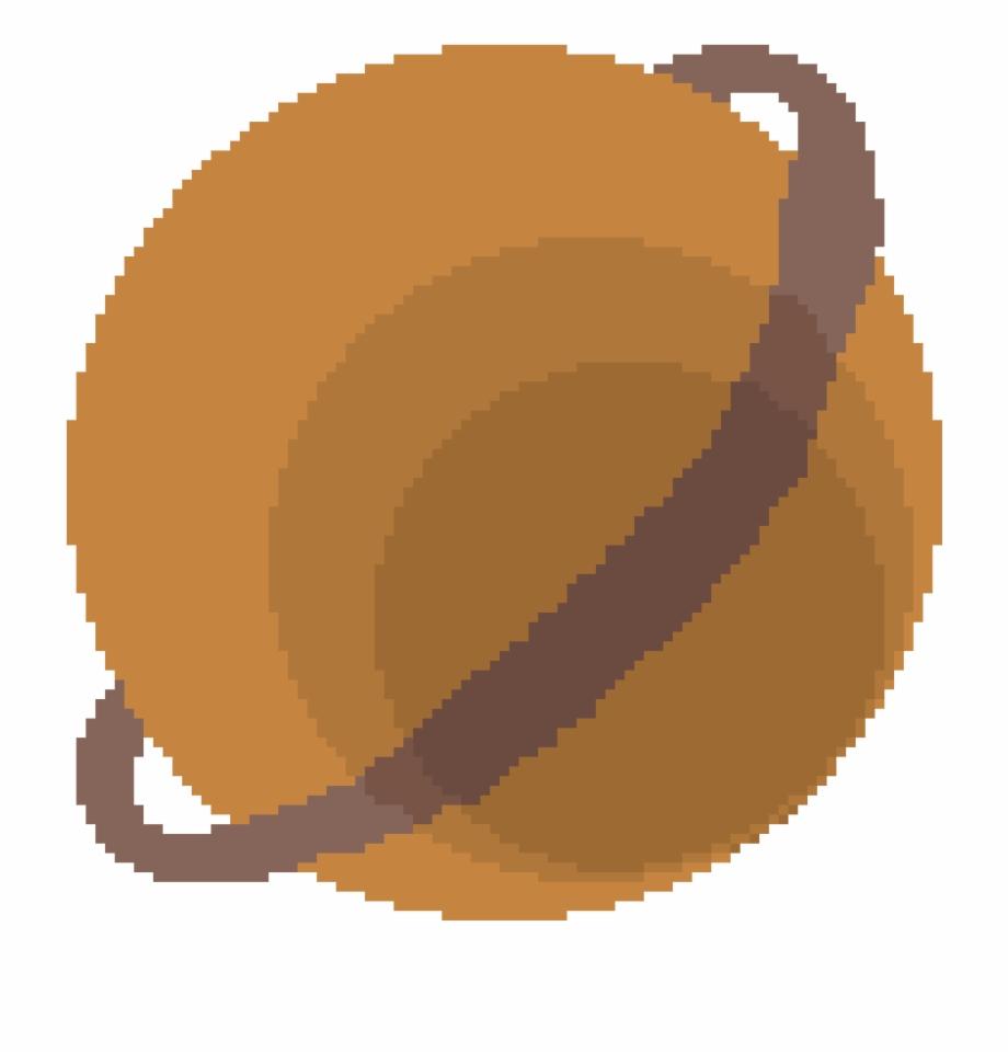 Ring Planet Pixel Art De Basket Transparent Png Download