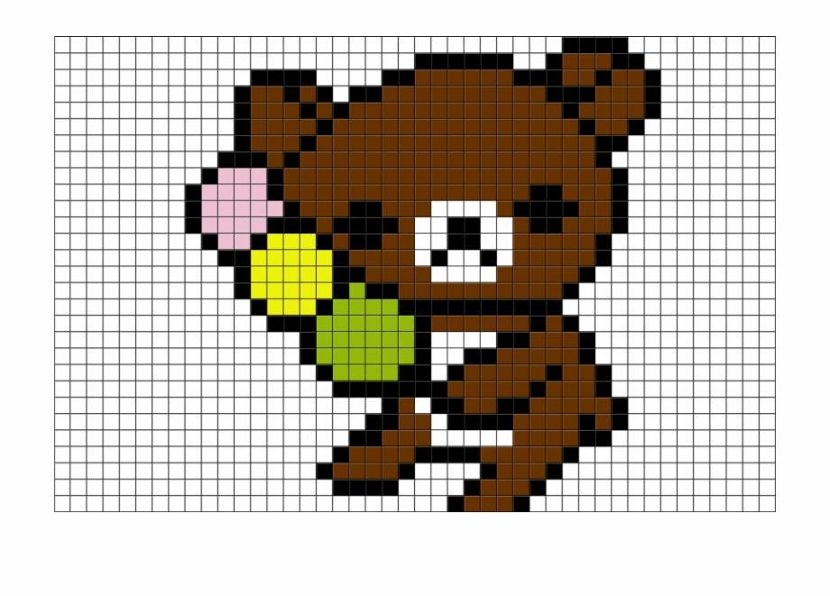 Transparent Rilakkuma Pixel Art Pixel Art Animales Cute