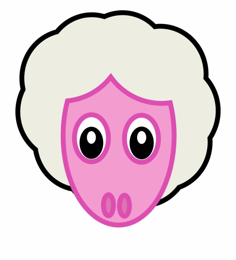 Sheep Head Gambar Kepala Binatang Kartun