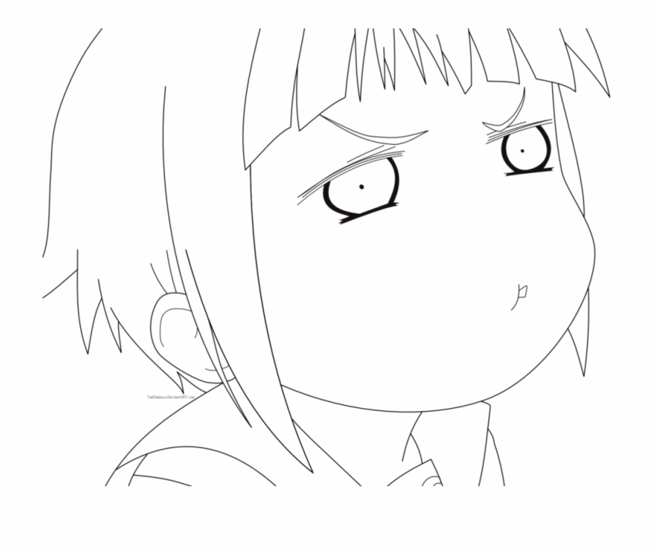 Anime Wolf Girl Lineart