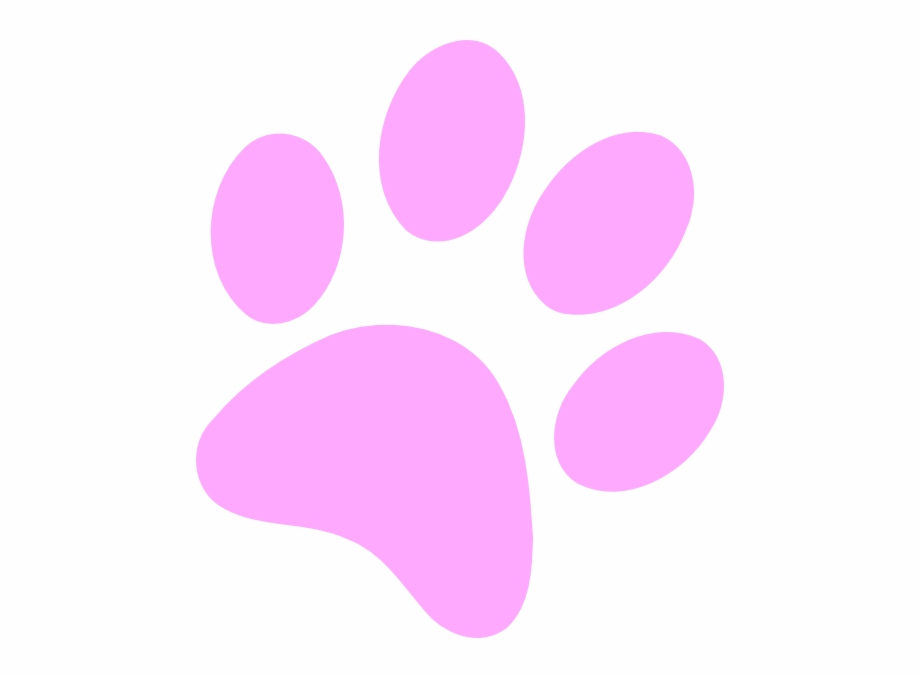 Transparent White Paw Print Png / Pink and white paw print, hd png download.