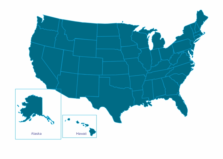 Simplified Map Of Us States Map Usa States Blank Outline ...