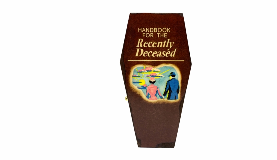Handbook For The Recently Deceased Mini Coffin Handbook Beetlejuice Transparent Png Download 1989249 Vippng