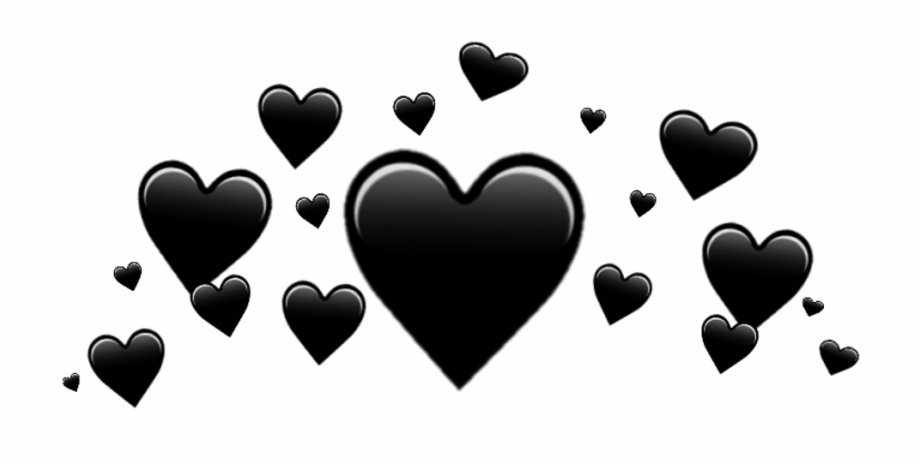 Black Heart Png Black Heart Crown Png Transparent Png Download