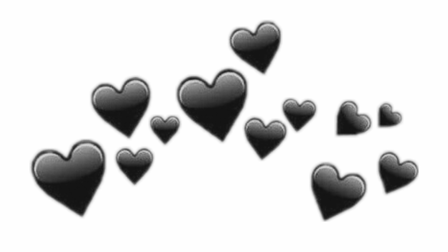🖤 Black Heart Emoji Crown Emojicrown Crown Edit - Black