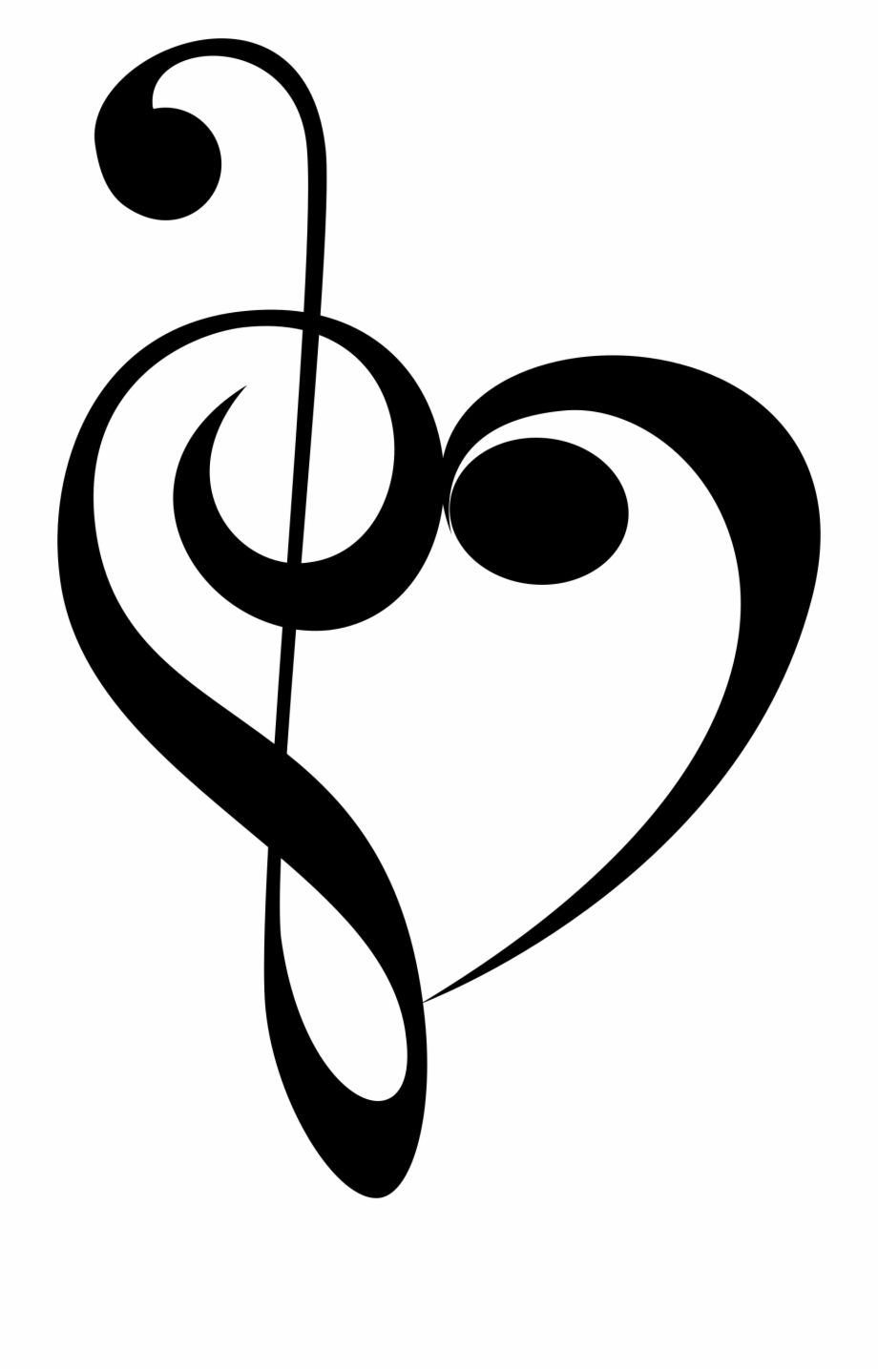 Music Note Clipart Heart Banner Transparent Stock ...