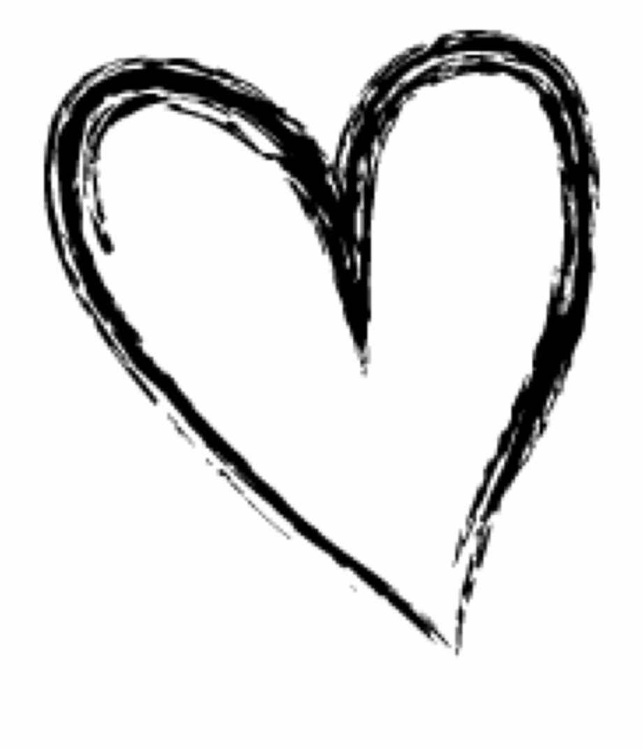 Doodle Heart Png Heart Doodle Transparent Background