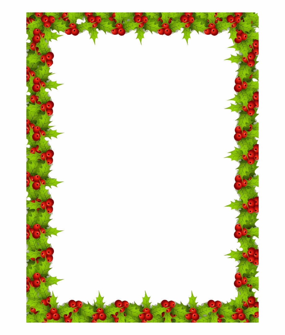 Christmas Border Png Free - Christmas Letter Border ... on