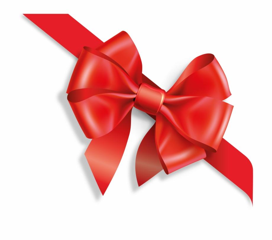 Christmas Bow Png Free Download - Подарок Лента Png | Transparent