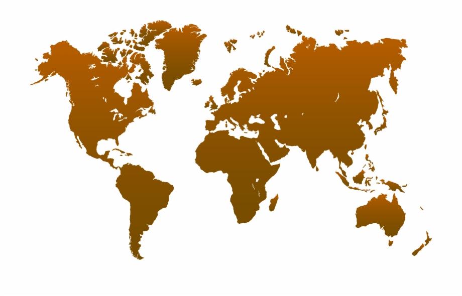 Brown World Map Transparent