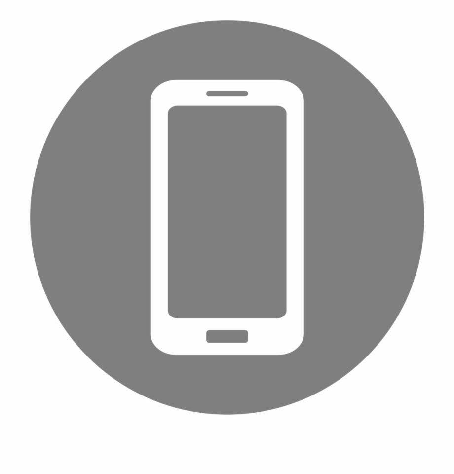 Cell Phone Icon >> Mobile Phone Icon Mobile Phone Logo Grey Transparent Png
