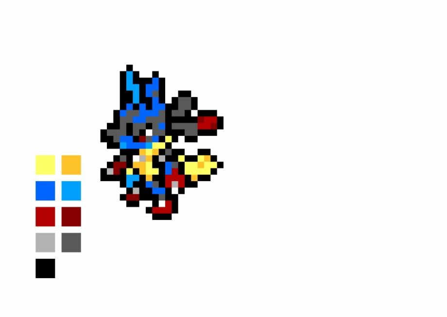 Mega Lucario Pixel Art Pokemon Solgaleo Transparent Png