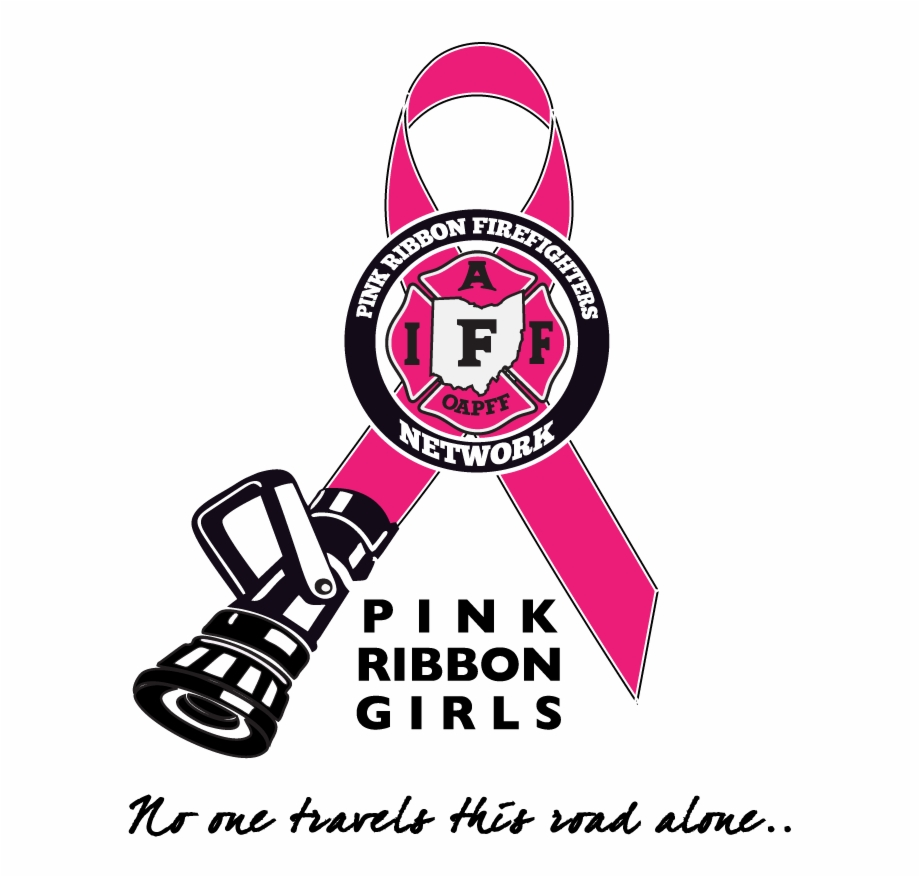 Breast Cancer Pink Ribbon Png Firefighter Girl Logo
