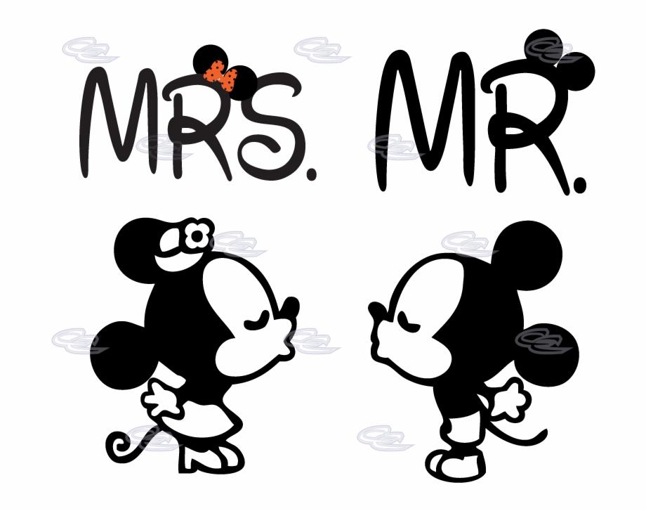 Mickey And Minnie Mouse Silhouette Mickey E Minnie Desenho