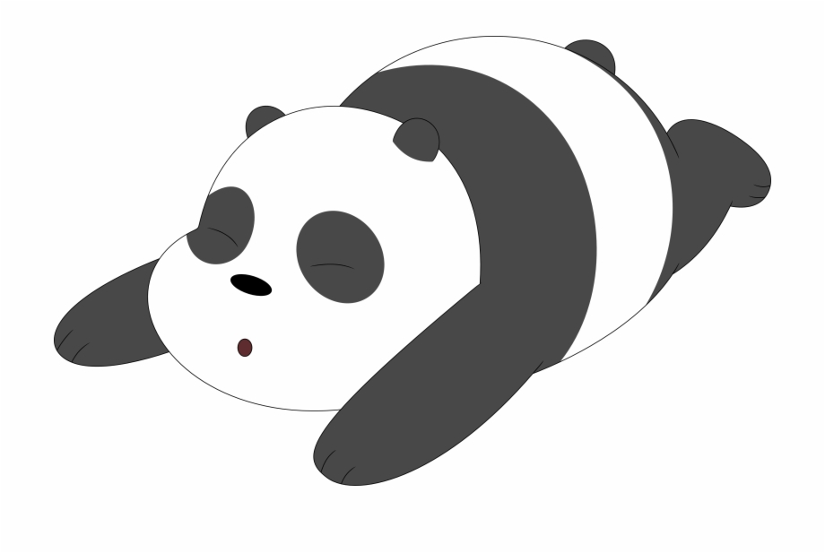 A On His We Bare Bears Panda Png Transparent Png