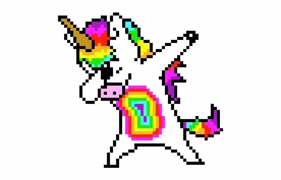 Pony Dab Pixel Art Dabbing Unicorn Transparent Png