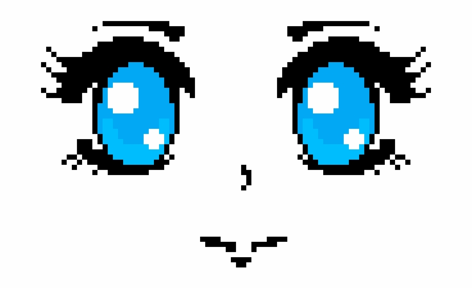 Anime Face Pixel Art Anime Eyes Transparent Png Download