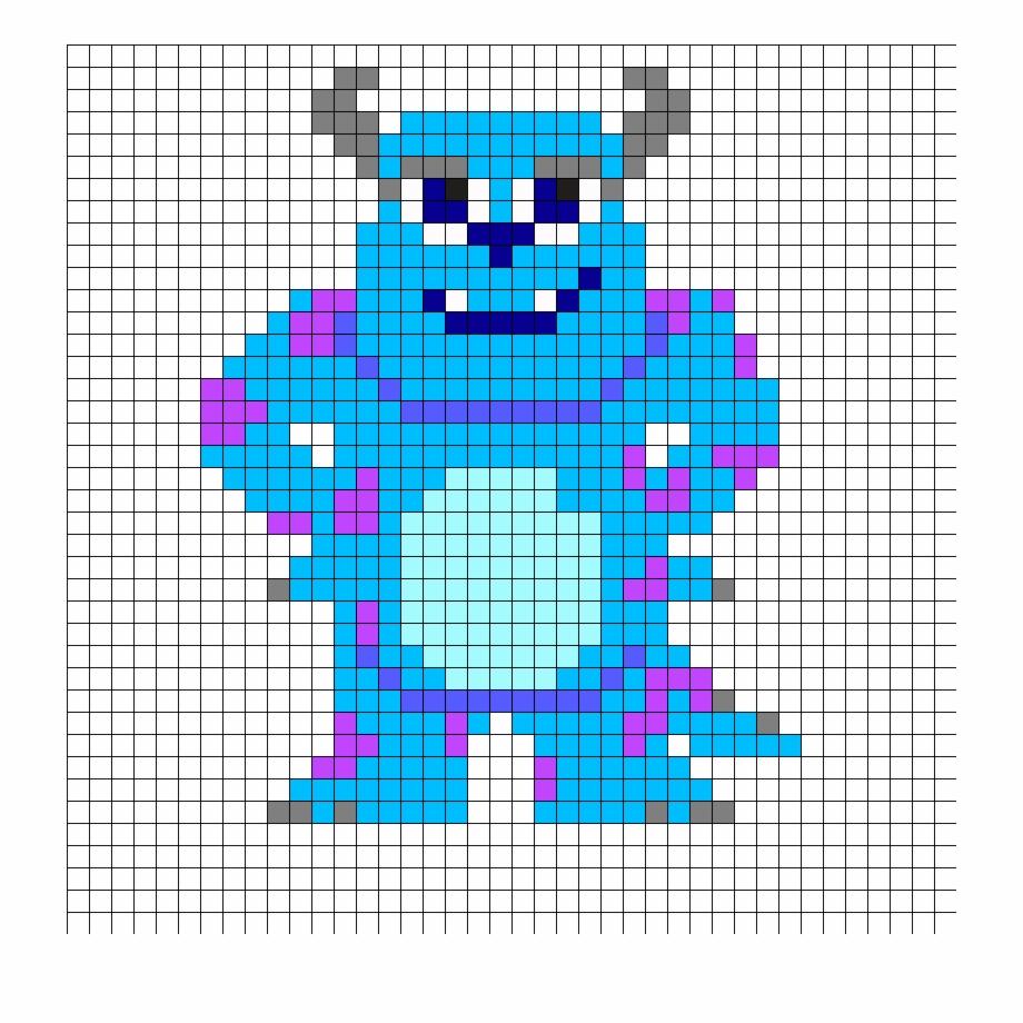 Perler Bead Pattern More Monsters Inc Pixel Art