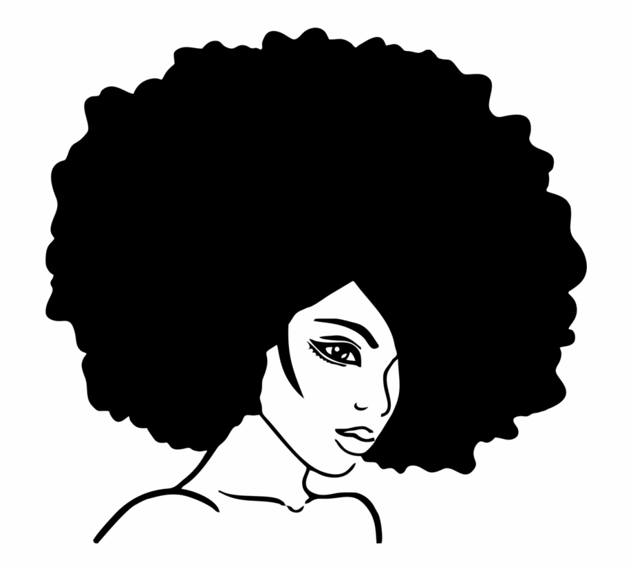 Wall Decal Sticker Beauty Parlour Afro Afro Hair Cartoon Art Transparent Png Download 2139892 Vippng