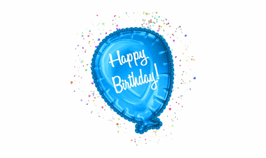 Banner Royalty Free Stock Happy Balloon Clipart Cu Birthday Balloons On Transparent Background Transparent Png Download 2148822 Vippng