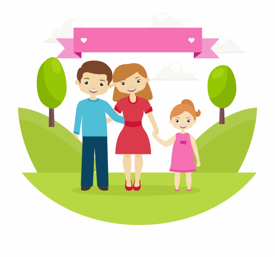 Png Image With Transparent Background Happy Family Of Three Cartoon Transparent Png Download 2151013 Vippng