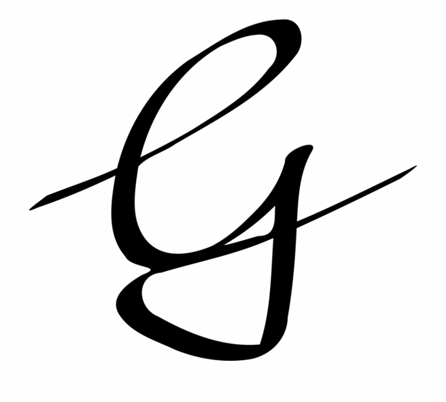 Letter Case Computer Icons Cursive Handwriting - Letter G In ...