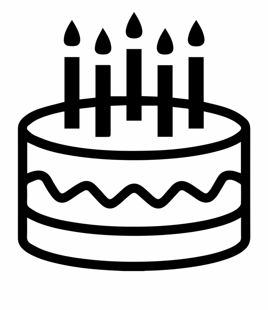 Terrific Cake Birthday Cake Icon Black And White Transparent Png Funny Birthday Cards Online Elaedamsfinfo