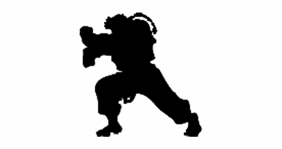Ryu Silhouette Png Street Fighter Silhouette Transparent Png