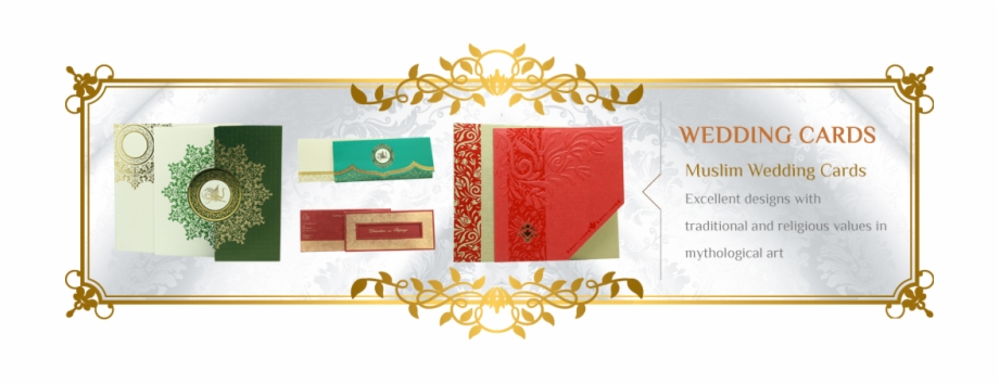 Banner Bg Muslim Wedding Card Banner Transparent Png Download 2226448 Vippng