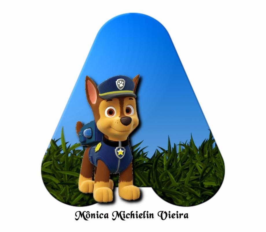 Alfabeto Patrulha Canina Png Paw Patrol Chase Invitations