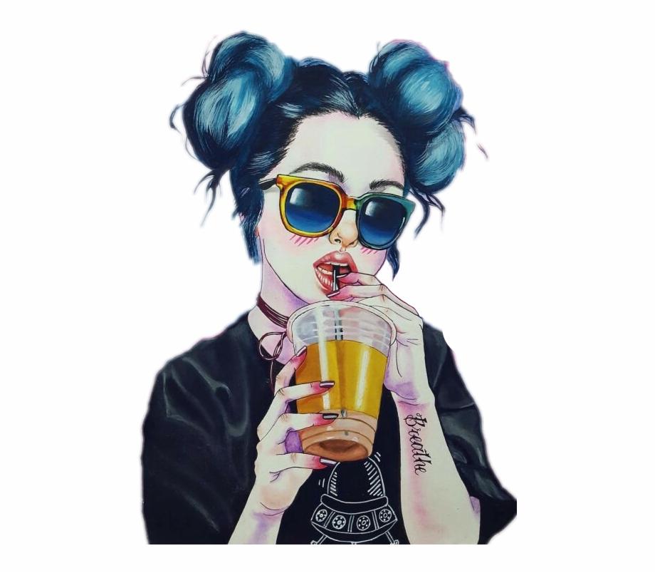 Tumblrgirl Tumblr Hipster Drink Cool Girl Post Tumblr - Fondos De ...