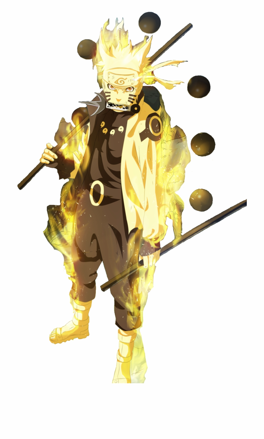 Naruto Sage Mode Png Naruto Sage Kyuubi Mode Six Paths Transparent Png Download 2261450 Vippng